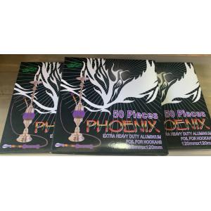 Phoenix Hookah Foil Pack (50 Sheets) with Holes